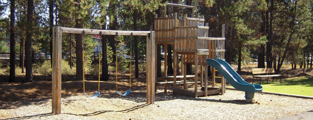 Play structure at Stoneridge Townhomes