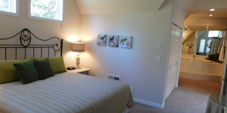 King bedroom in home #19 at StoneRidge Townhomes