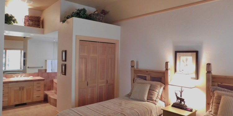 Twin bedroom in home #9 at StoneRidge Townhomes