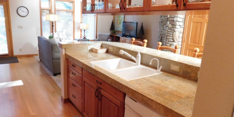 kitchen sink in townhome #11 at StoneRidge Townhomes