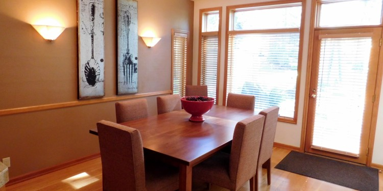 Beautiful dining room table in home #11 at StoneRidge Townhomes