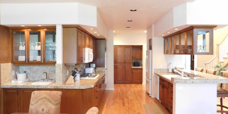 Home #25's kitchen area at StoneRidge Townhomes