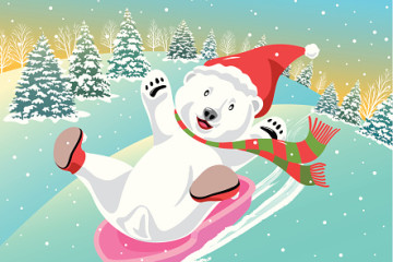 Polar Bear Sledding