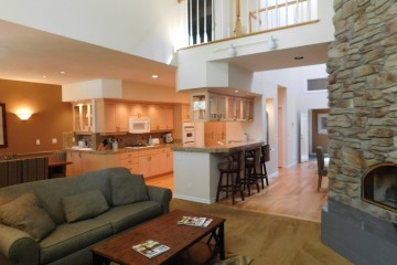 Townhome #30 living room and kitchen at StoneRidge Townhomes